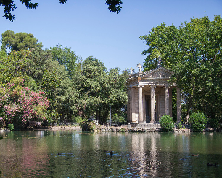 A nice scene in the Villa Borghese in Rome, Italy.