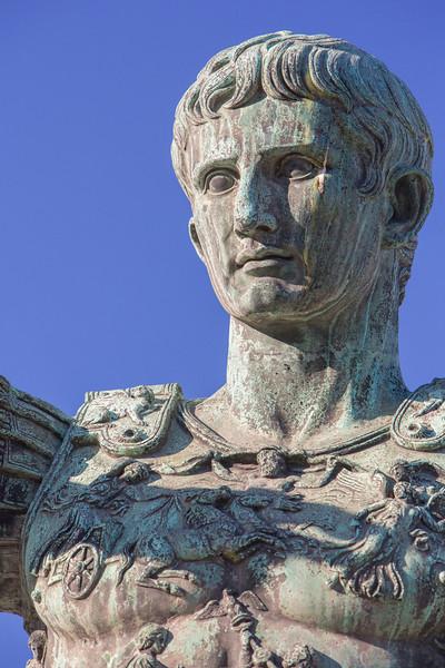 Statue of Julius Caesar, just outside the Roman Forum.
