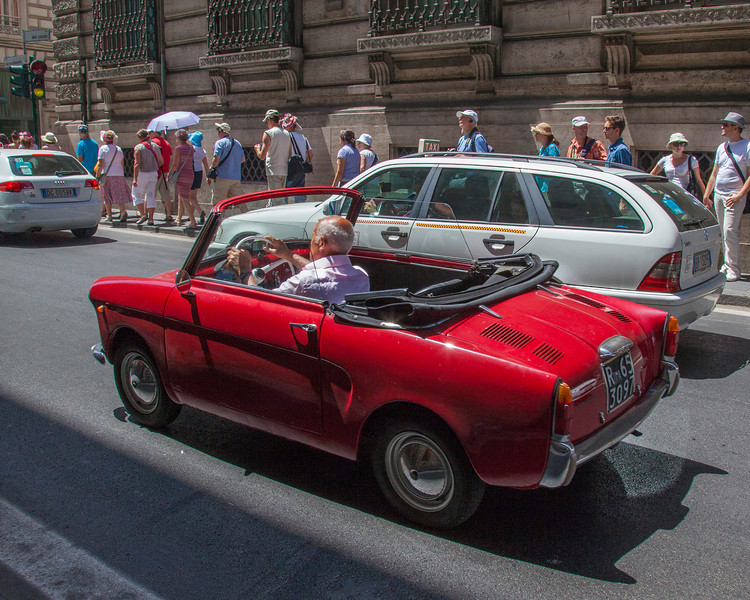 Hot little sports car in Rome, Italy.