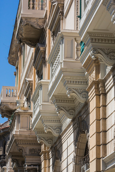 Street architecture, Messina, Sicily.