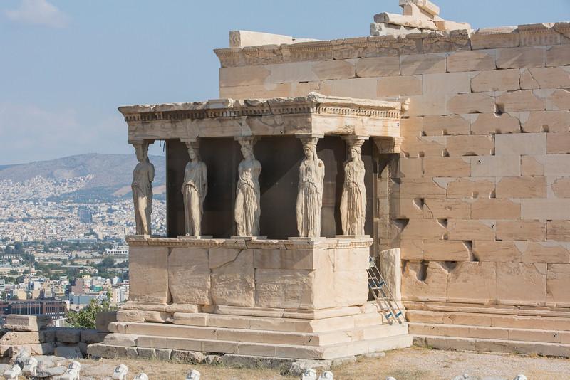 The Erechtheion, Acropolis, Athens, Greece.