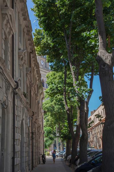 Street in Messina, Sicily.
