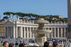 In the plaza, St. Peter's Square.