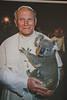 Pope John Paul II with a koala.