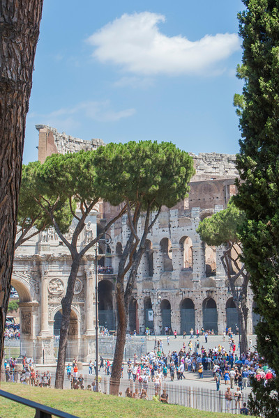 The Coliseum and the Arch of Constantine.