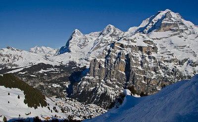 Murren, Switzerland. In the shadow of the Jungfrau and the Eiger.