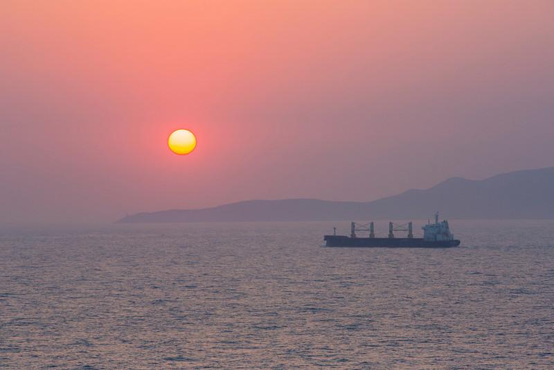 Sunset on the Mediterranean.