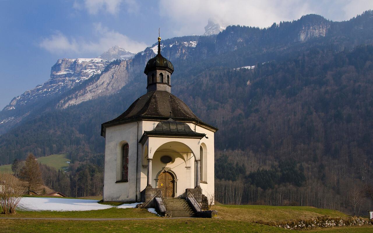 Holly Cross Catholic church.  Grafenort, Switzerland.  Built 1689.