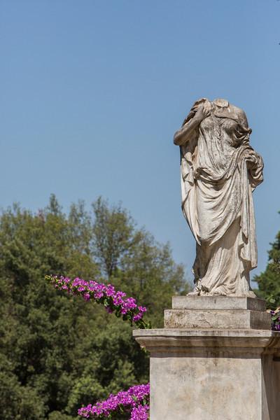 Statue seen in the Villa Borghese.