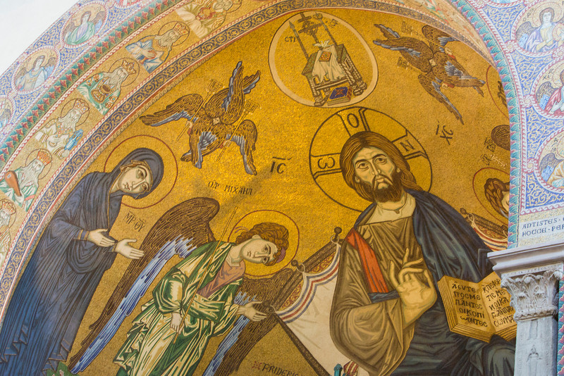 Artwork in the Norman Cathedral, Messina, Sicily.