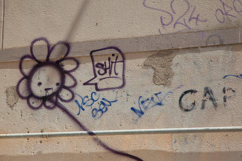 Graffiti in Messina, Sicily.