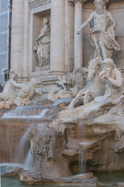 The Trevi Fountain.