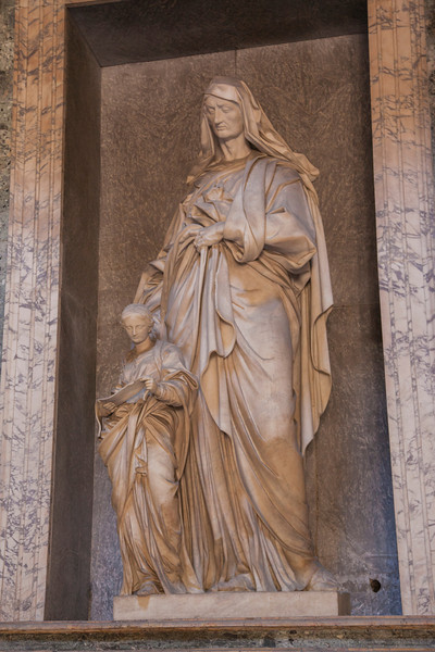 One of the many sculptures in the Pantheon:  St Anne and the Blessed Virgin by Il Lorenzone.