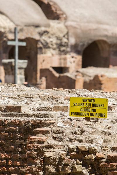 Seen inside the Coliseum...