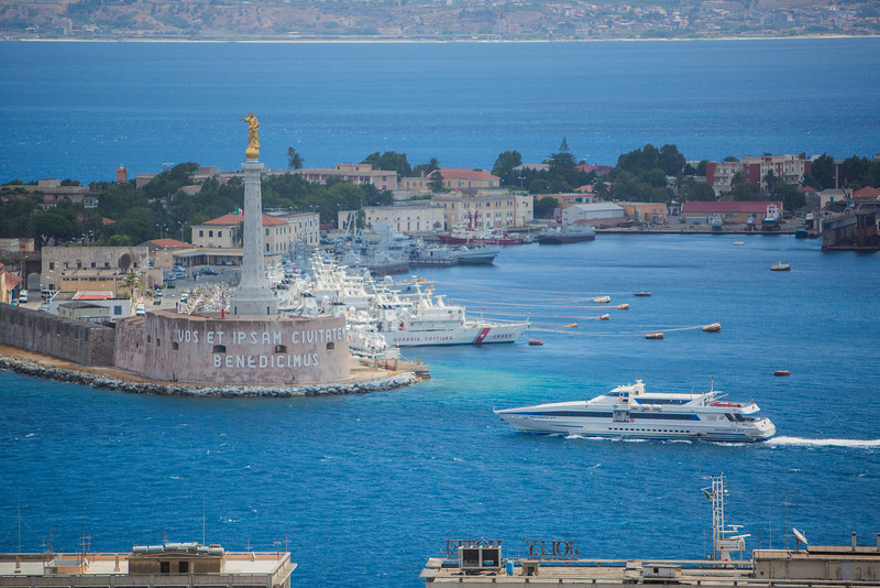 Messina Harbor (Sicily).