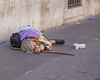 Beggar near the Vatican in Rome, Italy.  This was a common site.