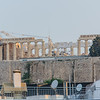 Sunrise view of the Acropolis from the hotel balcony