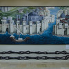City walls with chain that closed the Golden Horn