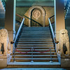 Marble staircase with a Tondo of Medusa at the top