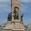 """<a href=""""http://en.wikipedia.org/wiki/Taksim_Square"""" target=""""_blank"""">Taksim Square</a> Republic Monument commemorating the formation of the Turkish Republic"""