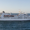 A smaller luxury cruise liner