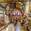 "Inside the <a href=""http://en.wikipedia.org/wiki/Grand_Bazaar,_Istanbul"" target=""_blank"">Grand Bazaar</a>"