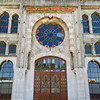 """<a href=""""http://en.wikipedia.org/wiki/%C4%B0stanbul_Sirkeci_Terminal"""" target=""""_blank"""">Sirkeci Station</a>, end of the line for the Orient Express"""
