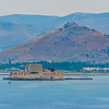 Nafplion harbour island fortress