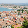 Looking down on Nafplion and harbour from the Akronafplio