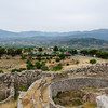 Mycenae - Grave Circle A in foreground