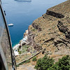 View from cable car en route to Fira.