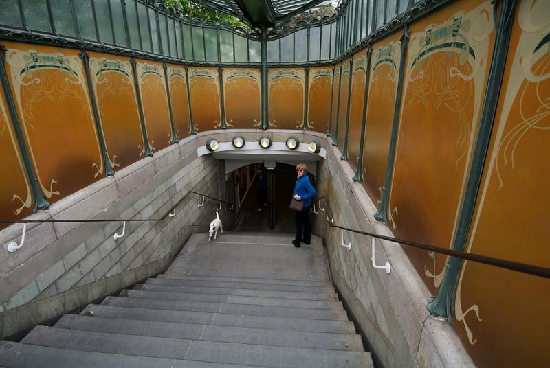 Paris: Porte Dauphine Metro entrance