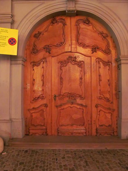 Door across the Munsterplatz, may be the nunnery.  Nicely ornate without being overdone.