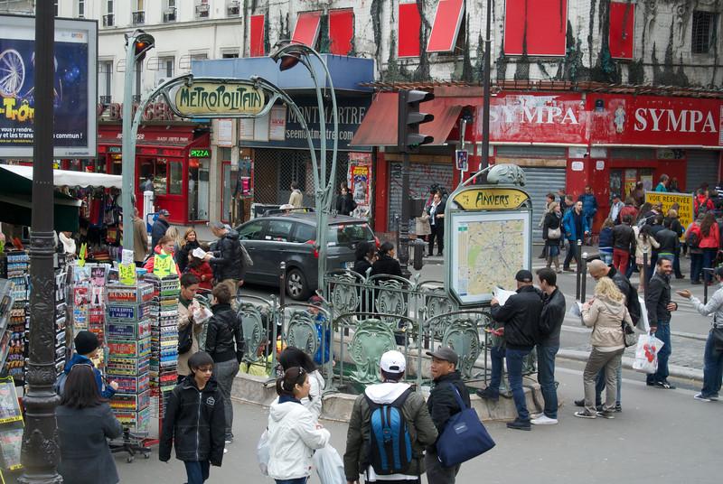 Paris. Street scene near Moulin Rouge
