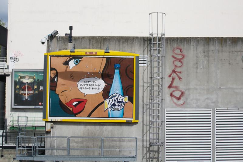 Paris: Perrier a la Lichtenstein
