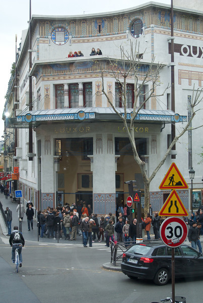 Paris. Louxor Theatre through a bus window