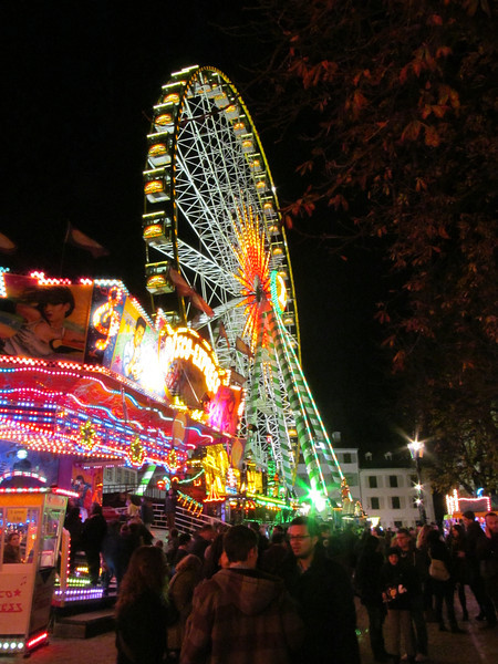 Ferris wheel at the Munsterplatz, Herbstmesse Autumn Festival BAsel