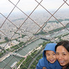 at the top of the eiffel tower!