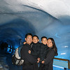 in the glacier cave in mt titlis