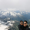 at the top of mt titlis, over 10,000 ft in elevation