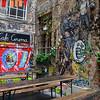 Graffiti Surrounding Café Cinema on Rosenthaler Höf, Berlin