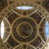 Entry Dome, Baroque Széchenyí Fürdo (Baths) in Városligef, Budapest