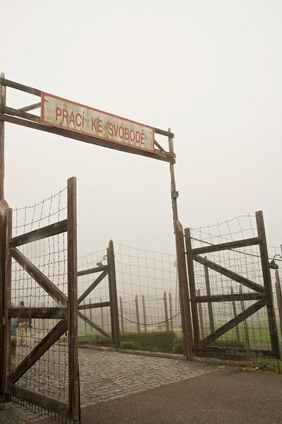 Entrance to Památnik Vojna, Communist Labor Camp, Lesetice