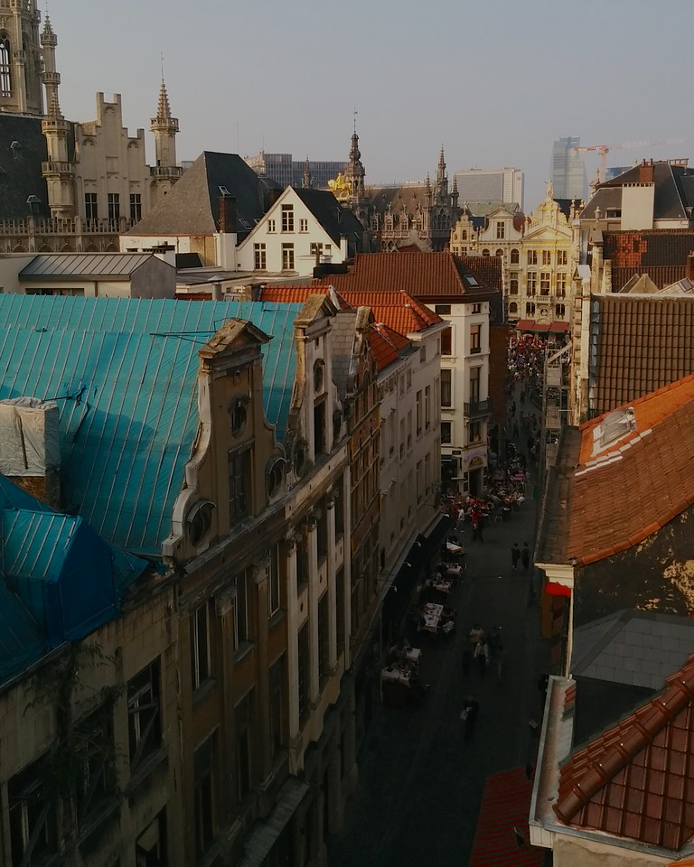 View from our airbnb, from the rooftop terrace.