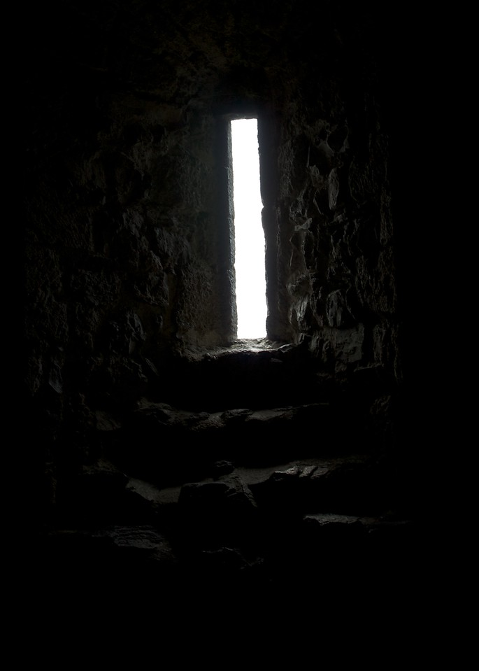 window in storehouse at Chateau de Chillon, 13th century