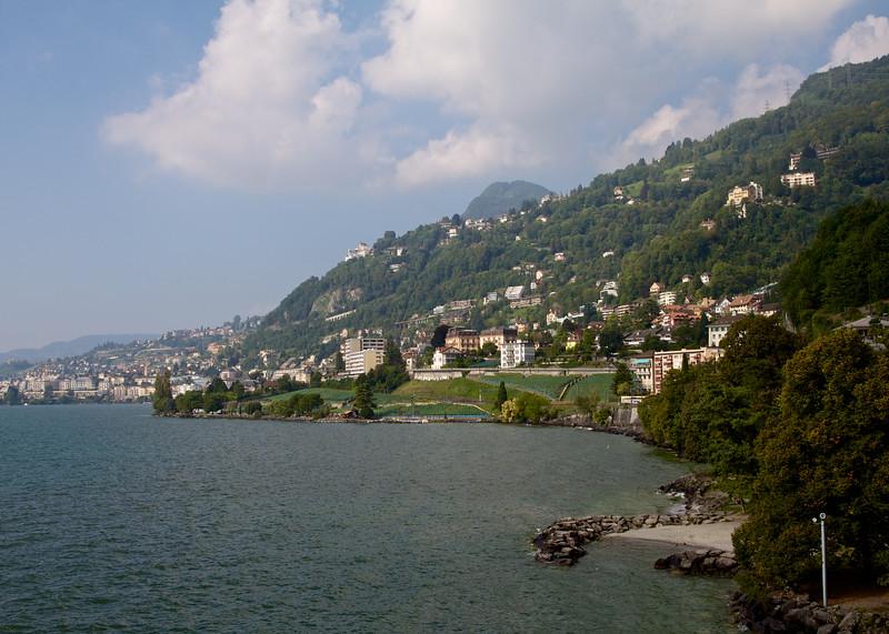 looking west on Lake Geneva towards Vevey