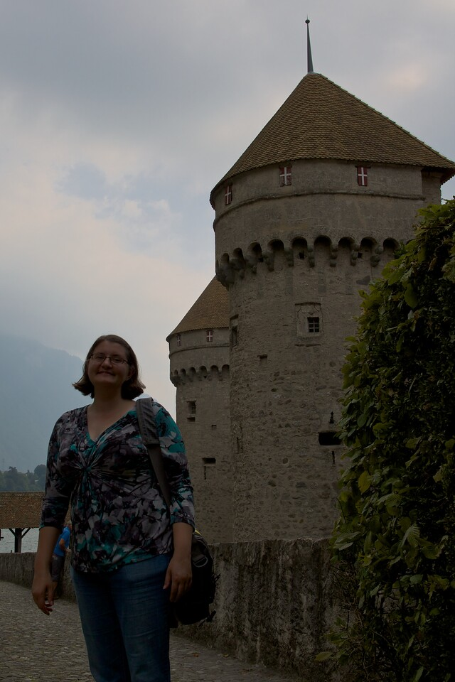 Faye at Chateau de Chillon
