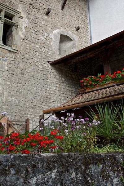 Courtyard at Chateau de Chillon