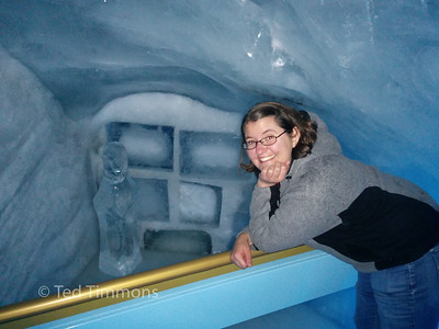 Faye in the ice cave