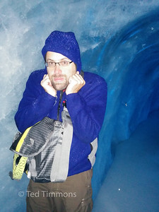 Ted is cold in the ice cave